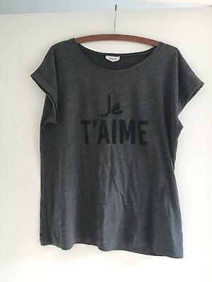 Seed Women's Grey T-Shirt Top Size M Excellent Condition
