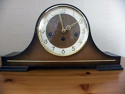 Woodford : NAPOLEON HAT WESTMINSTER CHIME HERMLE MANTLE CLOCK & KEY