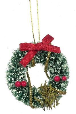 Dollhouse Miniature Decorated Christmas Wreath