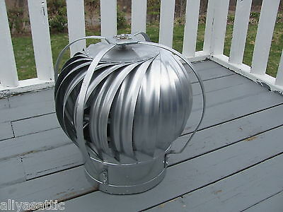 "Quality Wind Turbine Cooling Fan Roof Mount NOS Wisper Cool Made in USA 12"" V"