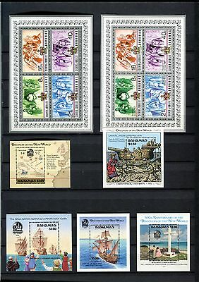 13 Mng Bahamas Souvenir Stamps 1977 – 1992 Silver Jubilee / Discovery New World
