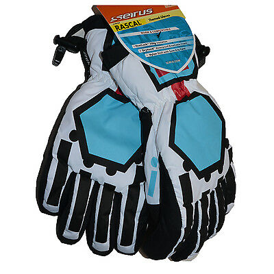 Seirus Kids Ski Gloves Jr Rascal Waterproof Robot Theme Insulated
