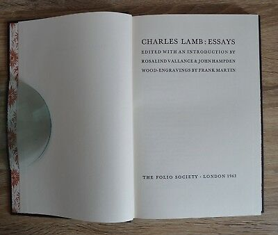 Environmental Science Essay Charles Lamb Essays Edited By Rosalind Vallance  The Folio Society Sample Apa Essay Paper also Political Science Essay Topics Folio Society Book Charles Lamb Essays   Edition Excellent  English As A World Language Essay