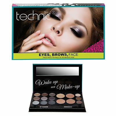 Technic Contour Face Powder Palette Eyebrow Bronzer Eyeshadow Make Up Gift Set