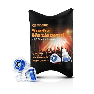 Snekz Maxisound Earplugs, Perfect for DJs, Musicians, Concerts Clubs & Festivals