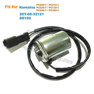 Rotary Solenoid Valve 20Y-60-32121 for Komatsu PC130-7 PC210-7 PC200-7 PC220-7