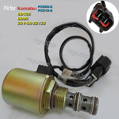 Rotary Pump Solenoid Valve 20Y-60-22122 for Komatsu 6D125 Engine PC200-6 PC210-6