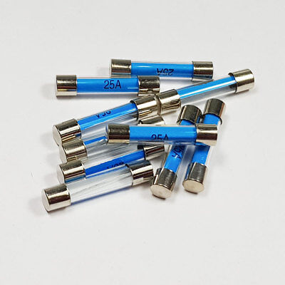 2 Amp Fuse Packed 10 FU4-2-10 Glass Fuse 30mm