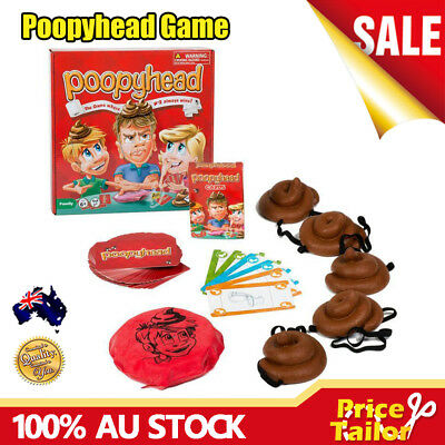 OZ Poopyhead Family Game Doggy Poo Cards Fun Poopy Head Kids Party Board Game