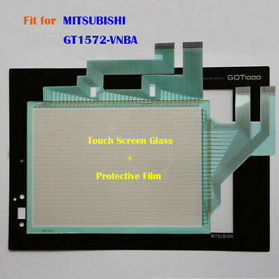 For MITSUBISHI GT1572-VNBA, GT1572VNBA Touch Panel Glass + Protective Film New