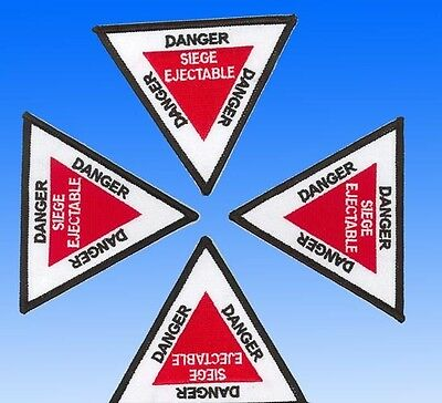 Patch Danger Siège Ejectable - Triangle