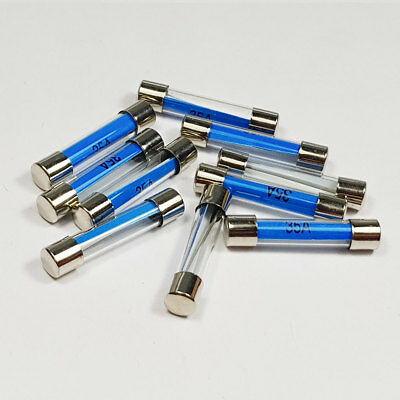5 x 35 Amp 35A Amps 6x30mm Glass Fuse Quick Blow Fuses - A 6 x 30mm