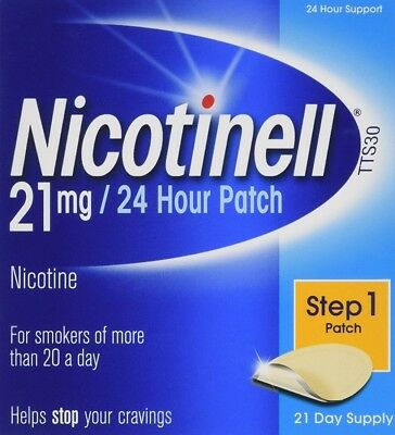 Nicotine Patches Step 1 Stop Smoking Aid Nicotinell 21 mg 24-Hour 21-Day Supply