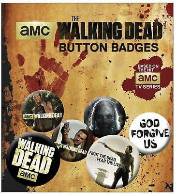 The Walking Dead Badge Pack daryl rick New Official (4x 25mm & 2x 32mm) One Size