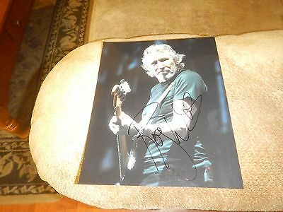 Roger Waters Pink Floyd autographed 8x10 with proof photo