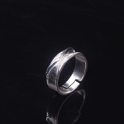 Silver Plated Dragon Ball Super Black Goku Ring for Women and Men Simple New