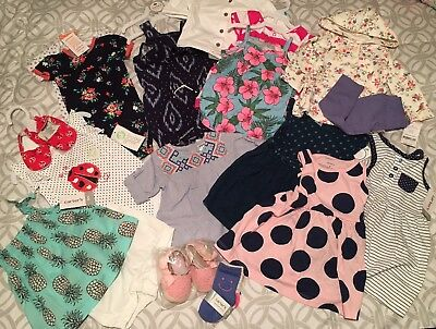 19 Pc Lot Baby Girl Clothes 6-9 Months Spring Summer Carters Baby Gear