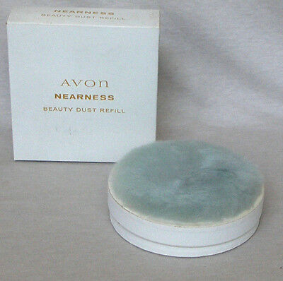 AVON VINTAGE NEARNESS BEAUTY DUST POWDER REFILL WITH PUFF 6 oz. NEW