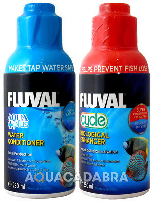 @ FLUVAL AQUAPLUS & CYCLE 250ml BIOLOGICAL WATER CONDITIONER FISH TANK NUTRAFIN