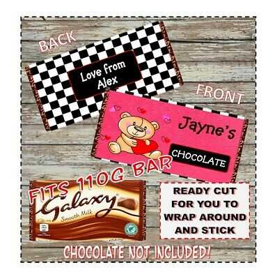 Personalised Wrapper for Galaxy Dairy Milk 100g 112g Chocolate Bars Fathers Day