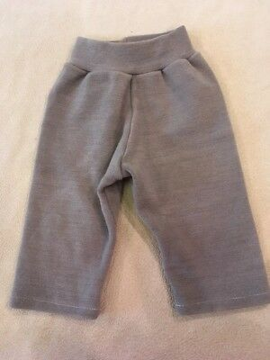 Royal Buns Diaper Cover Pants Woolies Wool Interlock Grey Boy Girl Cloth Small