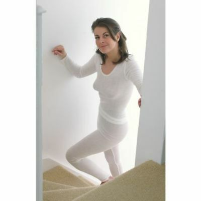 palm ladies long sleeve thermal spencer vests or long johns white brand new