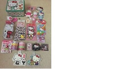 Hello Kitty Sanrio Lot of Collectibles - Lunch Box, Stickers and More