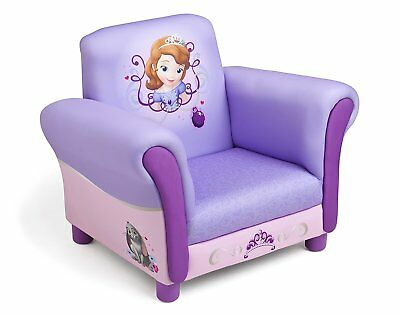 Delta Children Sofia the First Upholstered Chair, Kids Arm Chair Hardwood Frame