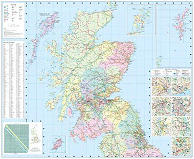 2018 Collins Map of Scotland by Collins Maps New Sheet map  folded Book