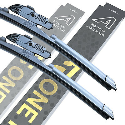 "Front Premium Aero Wiper Blades - Pair Windscreen Window 26"" + 16"" V1"