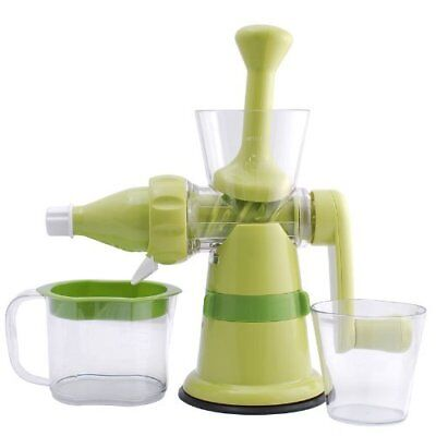 Chef's Star Manual Hand Crank Single Auger Juicer with Suction Base