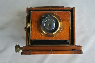 Lizars 4 x 5 tropical wooden camera for sheet film missing ground glass