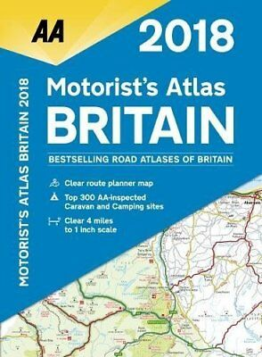 AA Motorist's Atlas Britain by AA Publishing New Spiral bound Book