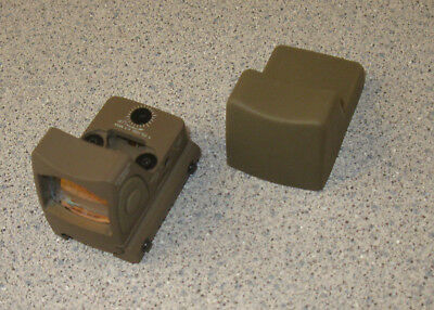 Airsoft Micro Mini RMR Style Red Dot Sight TAN DE w/ Side ON/OFF switch