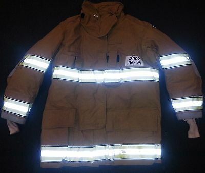 46x35 Firefighter Jacket Coat Bunker Fire Turn Out Gear Globe Gxtreme  J407