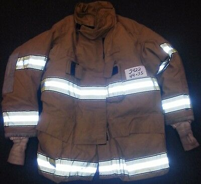 44x35 Firefighter Jacket Coat Bunker Turn Out Gear Globe Gxtreme     J422