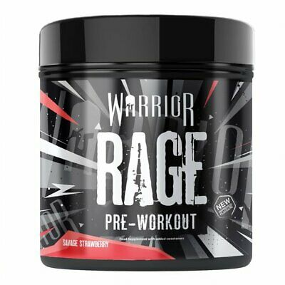 Warrior Rage Pre Workout Powder Energy Muscle Pump Supplement 45 Servs Free P&P