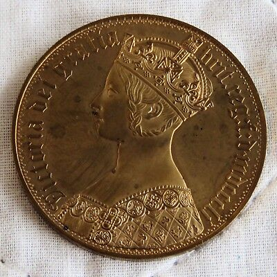Scotland 1851 Queen Victoria Golden Alloy Proof Pattern Gothic Crown