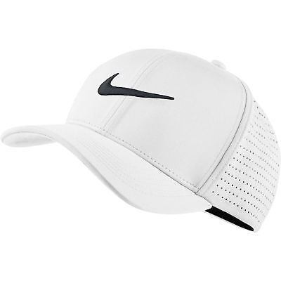 NEW Nike Classic 99 Performance Tour Perforated White/Black Fitted L/XL Hat/Cap