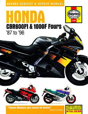 Honda CBR600F1 & CBR1000F Fours 1987-1996 Haynes Manual 1730 NEW