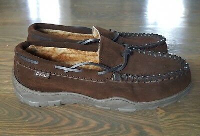 Cabela Leather Slippers Men Brown Cabelas Size 9 M Lined