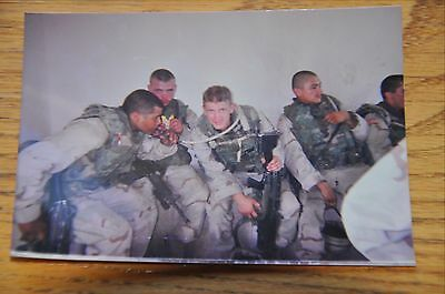 Iraqi Freedom OIF 1st Armored Photograph 3 x 5 Sharing a drink of water