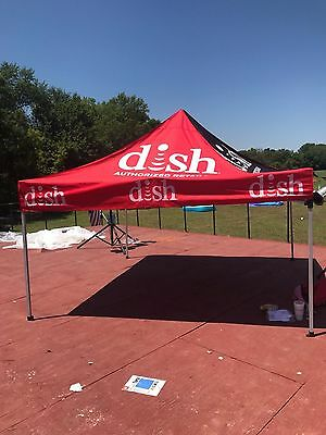 Dish Network 10X10 EZ Pop Up Canopy Commercial TRADE SHOW FAIR BOOTH EVENT Tent