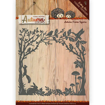 Stanzschablone - Yvonne Creations - Autumn Colors - Herbstlicher Rahmen Quadrat