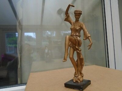 large antique styled gold painted plaster/resin figure   nice display statue WOW