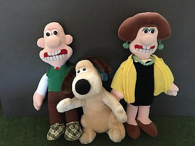 Vintage 1989 Wallace & Gromit Born To Play Plush Doll Lot Of 3