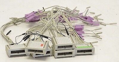 HP Agilent Probe Adapters Lot Qty 6 w/ 8 Flying Probe Leads & Black Grounds