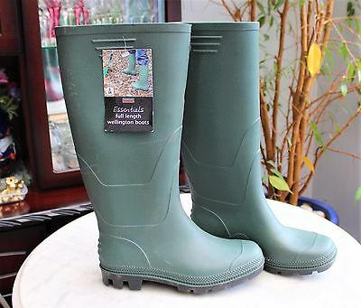 Town & Country Essentials FULL Length Wellington Boots SIZE 5 EUR 38 WATERPROOF