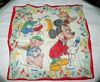 Vintage Child's Mickey Mouse & Porky Pig & Company  Music Band Wdp Never Used