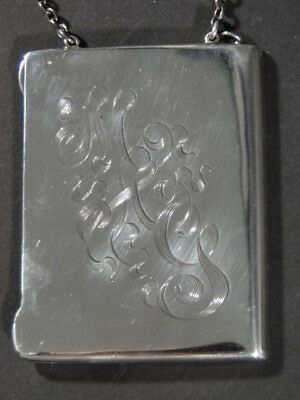 Early 1900's Pryor Mfg Co Sterling Silver Handled CARD CASE